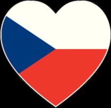 На автомобиль Наклейка «Чехия сердце»Страны и путешествия<br><br>