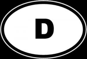 На автомобиль Наклейка «D - Германия»Автомобильные<br><br>