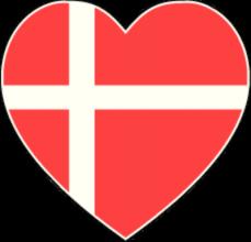 На автомобиль Наклейка «Дания сердце»Страны и путешествия<br><br>