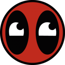 На автомобиль Наклейка «Deadpool smile»Кино и TV<br><br>