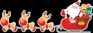 На автомобиль Наклейка «Дед мороз c оленями»Новогодние<br><br>