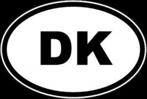 На автомобиль Наклейка «DK - Дания»Автомобильные<br><br>