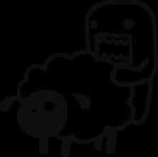 На автомобиль Наклейка «Domo-kun и овца»Domo-Kun<br><br>