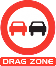 На автомобиль Наклейка «Drag Zone»Racing<br><br>