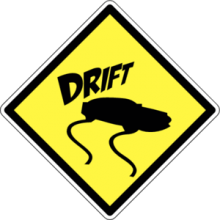 На автомобиль Наклейка «Drift Sign»Drift<br><br>