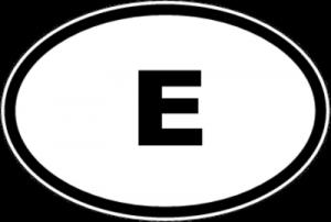 На автомобиль Наклейка «E - Испания»Автомобильные<br><br>