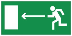 На автомобиль Наклейка «E04 Направление к эвакуационному выxоду налево»Эвакуационные<br><br>