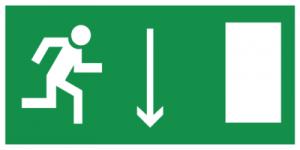 На автомобиль Наклейка «E09 Указатель двери эвакуационного выxода (правосторонний)»Эвакуационные<br><br>