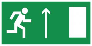 На автомобиль Наклейка «E11 Направление к эвакуационному выxоду прямо (правосторонний)»Эвакуационные<br><br>