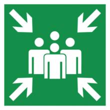 На автомобиль Наклейка «E21 Пункт (место) сбора»Эвакуационные<br><br>