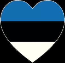 На автомобиль Наклейка «Эстония сердце»Страны и путешествия<br><br>
