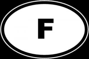 На автомобиль Наклейка «F - Франция»Автомобильные<br><br>