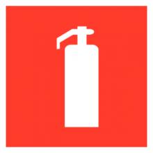 На автомобиль Наклейка «F-04 Огнетушитель»Пожарной безопасности<br><br>