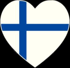 На автомобиль Наклейка «Финляндия сердце»Страны и путешествия<br><br>
