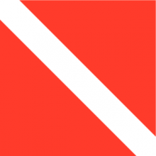 На автомобиль Наклейка «Флаг Дайверский»Спорт и хобби<br><br>