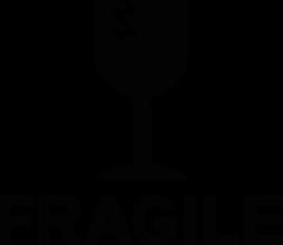 На автомобиль Наклейка «Fragile - Хрупкое»Знаки<br><br>