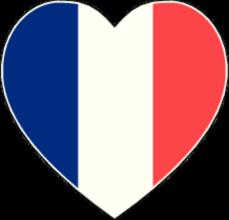 На автомобиль Наклейка «Франция сердце»Страны и путешествия<br><br>