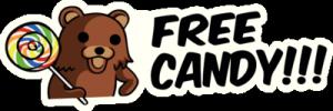 На автомобиль Наклейка «Free Candy»Разные<br><br>