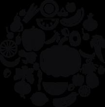 На автомобиль Наклейка «Фрукты и овощи»Разные<br><br>