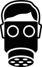 На автомобиль Наклейка «Gas Mask»JDM<br><br>