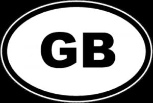 На автомобиль Наклейка «GB - Великобритания»Автомобильные<br><br>
