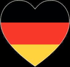 На автомобиль Наклейка «Германия сердце»Страны и путешествия<br><br>