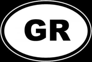 На автомобиль Наклейка «GR - Греция»Автомобильные<br><br>