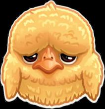 На автомобиль Наклейка «Грустный цыпленок»Сообщества<br><br>