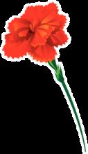 На автомобиль Наклейка «Гвоздика к 9 мая»Ко Дню Победы<br><br>