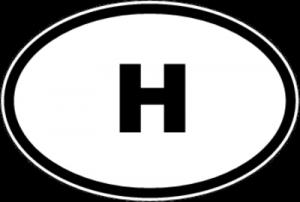 На автомобиль Наклейка «H - Венгрия»Автомобильные<br><br>