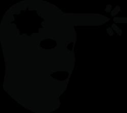 На автомобиль Наклейка «Headshot (Source)»Компьютерные игры<br><br>