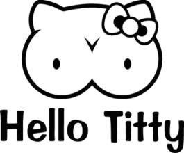 На автомобиль Наклейка «Hello Titty»Hello Kitty<br><br>