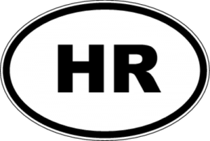 На автомобиль Наклейка «HR - Хорватия»Автомобильные<br><br>