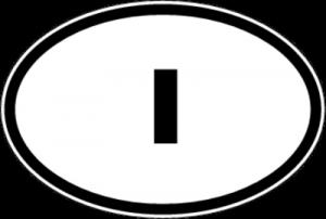На автомобиль Наклейка «I - Италия»Автомобильные<br><br>