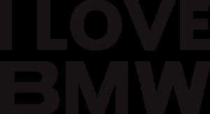 На автомобиль Наклейка «I love BMW»BMW<br><br>