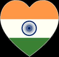 На автомобиль Наклейка «Индия сердце»Страны и путешествия<br><br>