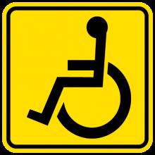 На автомобиль Наклейка «Инвалид за рулём»Знаки<br><br>
