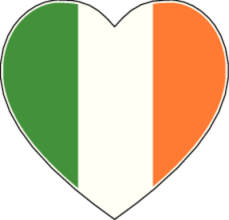 На автомобиль Наклейка «Ирландия Сердце»Страны и путешествия<br><br>