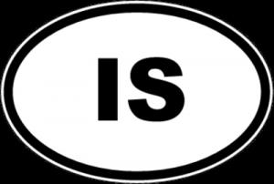 На автомобиль Наклейка «IS - Исландия»Автомобильные<br><br>