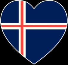 На автомобиль Наклейка «Исландия сердце»Страны и путешествия<br><br>
