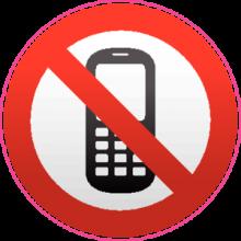 На автомобиль Наклейка «Использование телефонов запрещено»Разные<br><br>