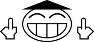 На автомобиль Наклейка «Japanese Fuck»JDM Smile<br><br>