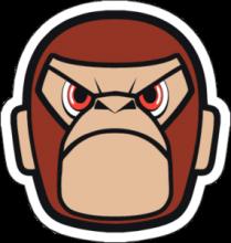 На автомобиль Наклейка «JDM Angry Monkey»JDM<br><br>