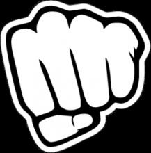 На автомобиль Наклейка «JDM Fist»JDM<br><br>