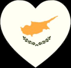 На автомобиль Наклейка «Кипр сердце»Страны и путешествия<br><br>