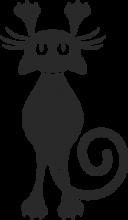 На автомобиль Наклейка «Кошка царапает»Кошки<br><br>
