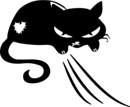 На автомобиль Наклейка «Кошка Леди»Кошки<br><br>