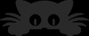 На автомобиль Наклейка «Кошка прячется»Кошки<br><br>