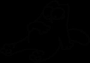 На автомобиль Наклейка «Кот Саймона - Объелся»Разные<br><br>