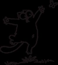 На автомобиль Наклейка «Кот Саймона с бабочкой»Кошки<br><br>